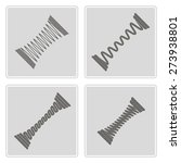 set of monochrome icons with... | Shutterstock .eps vector #273938801