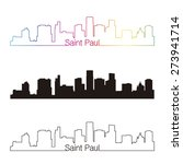 saint paul skyline linear style ... | Shutterstock .eps vector #273941714