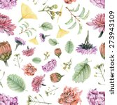 seamless pattern with beautiful ... | Shutterstock . vector #273943109