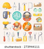 tools for building ... | Shutterstock .eps vector #273944111