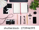 top view of a designer working... | Shutterstock . vector #273946595