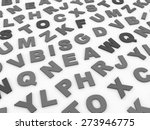 letters of the english alphabet.... | Shutterstock . vector #273946775