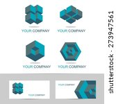 vector logo template set of... | Shutterstock .eps vector #273947561