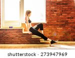 beautiful healthy fitness woman | Shutterstock . vector #273947969