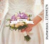 vector wedding invitation with...   Shutterstock .eps vector #273949274