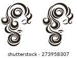 hair stile icon  female face ... | Shutterstock .eps vector #273958307