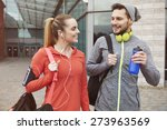 fitness lifestyle of young... | Shutterstock . vector #273963569