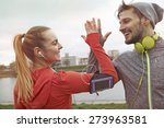 it was really great workout | Shutterstock . vector #273963581
