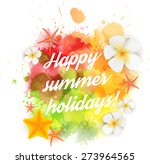 abstract summer background with ... | Shutterstock .eps vector #273964565