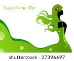 the young girl in green dress   Shutterstock .eps vector #27396697