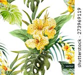 Watercolor Seamless Tropical...