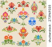 elements of traditional slavic... | Shutterstock .eps vector #273969335