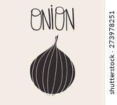 onion doodle vector...