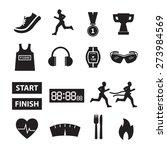 running vector running icon set   Shutterstock .eps vector #273984569