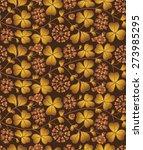 autumn seamless natural pattern ... | Shutterstock .eps vector #273985295