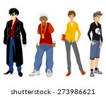 vector illustration of a four... | Shutterstock .eps vector #273986621