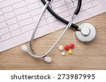 electrocardiogram. acoustic...   Shutterstock . vector #273987995