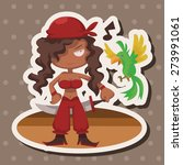 pirate   cartoon sticker icon | Shutterstock . vector #273991061