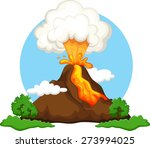 illustration of a volcano... | Shutterstock .eps vector #273994025