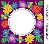 floral vector card for wedding  ...   Shutterstock .eps vector #273995711