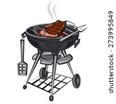 grill with meat | Shutterstock .eps vector #273995849