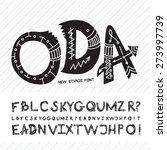 hand drawn font  alphabet made... | Shutterstock .eps vector #273997739