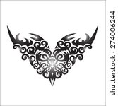 asian tattoo graphics on a... | Shutterstock .eps vector #274006244