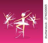 set of dynamic doodle ballet... | Shutterstock . vector #274020005
