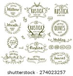 hand drawn floral frames in... | Shutterstock .eps vector #274023257