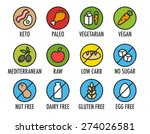 set of colorful round icons of... | Shutterstock .eps vector #274026581