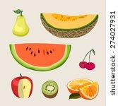 set fresh cartoon  vector... | Shutterstock .eps vector #274027931