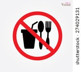 no eating vector sign no food... | Shutterstock .eps vector #274029131