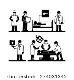 surgeons operating doctor... | Shutterstock .eps vector #274031345