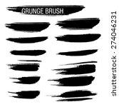 set of hand drawn grunge brush...   Shutterstock .eps vector #274046231