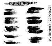 set of hand drawn grunge brush... | Shutterstock .eps vector #274046234
