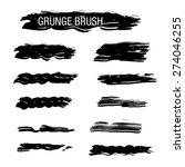 set of hand drawn grunge brush... | Shutterstock .eps vector #274046255