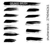 set of hand drawn grunge brush...   Shutterstock .eps vector #274046261