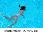 young girl in crystal clear... | Shutterstock . vector #274047131