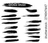 set of hand drawn grunge brush... | Shutterstock .eps vector #274047647