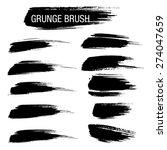 set of hand drawn grunge brush...   Shutterstock .eps vector #274047659