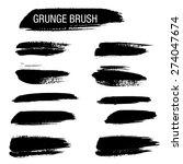 set of hand drawn grunge brush... | Shutterstock .eps vector #274047674