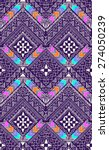 abstract aztec zigzag design  ... | Shutterstock .eps vector #274050239