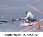 technician is connecting fuel... | Shutterstock . vector #274055651