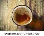 glass of fresh lager beer on... | Shutterstock . vector #274068731