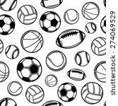 sports balls background ... | Shutterstock .eps vector #274069529