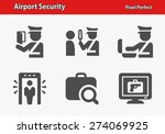airport security icons.... | Shutterstock .eps vector #274069925