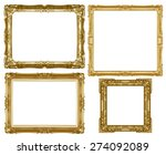 old antique gold frame isolated ... | Shutterstock . vector #274092089