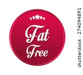 low fat free label design ... | Shutterstock .eps vector #274094891