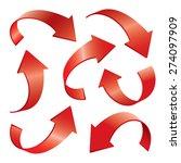 set of color vector arrows 3d | Shutterstock .eps vector #274097909