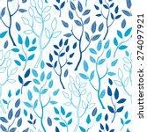 vector blue forest seamless... | Shutterstock .eps vector #274097921